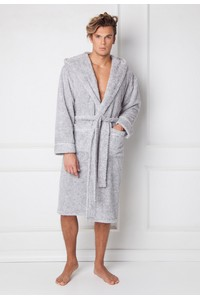 Alexander, bathrobe male long with hood, Aruelle