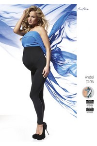 Anabel legginsy women's ciążowe with polarem 200 den, Bas Bleu
