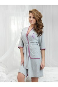 Dorota women's dressing-gown fr-077 bathrobe