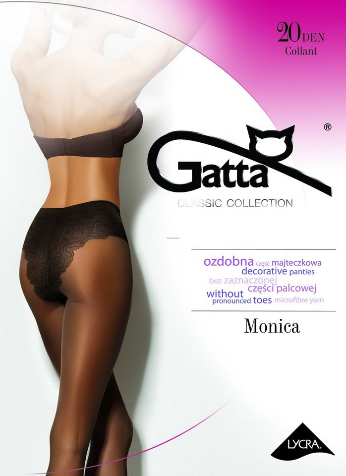 "Gatta /""Monica/"" classic tights with decorative panties without pronounced toes"