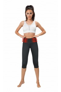 BELLY CONTROL Capri WITH MESH PANELS black, Gwinner