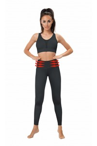 BELLY CONTROL LEGGINGS WITH MESH PANELS black, Gwinner