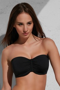 Krisline Beach bandeau bra bathing black