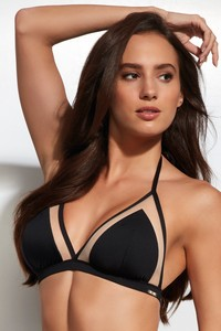 Beach bustier soft bra bathing soft black, Krisline