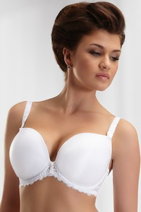 Krisline Betty bra deco plunge white