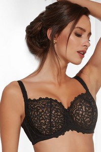 Betty half cup bra soft black, Krisline