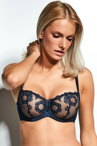 Fortuna half cup soft bra soft night blue, Krisline