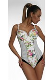 Krisline Retro swimwear one piece padded