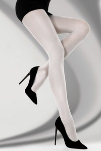Bryne tights smooth 40 den white, Livia Corsetti