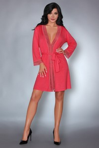 Livia Corsetti Frances coral lc 90264 touchable collection dressing gown dressing gown - all