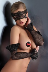 Livia Corsetti Gloves black model 10 lc 28008 gloves
