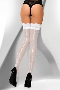 Livia Corsetti Abitanna 20 den white stockings 20 den stockings 20 den - all