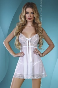 Livia Corsetti Eglantine white lc 90193 chemise and thongs