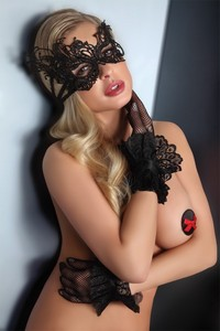 Livia Corsetti Mask black model 1 lc 13001 masks