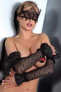 Livia Corsetti Mask black model 2 lc 13002 masks