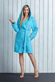 L&l lady short dressing gown Alba - bathrobes