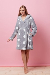 L&l lady short dressing gown Kola spots - bathrobes