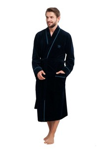 Bathrobe male long M-2XL, 852, Luna