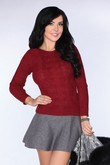 Merribel Sadila maroon sweater