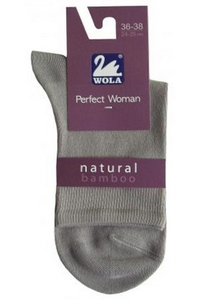 Socks women's smooth with bamboo, Wola
